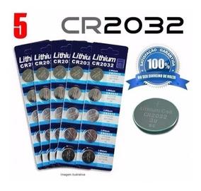 Bateria Cr2032 3v Lithium Unidade, Placa Mãe, 5 Unidades-