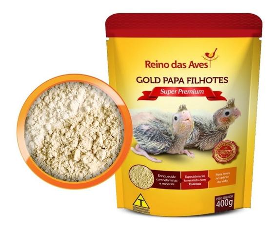 Kit 3 Papinha Gold Papa Filhotes Calopsita Papagaio Pássaros