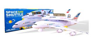 Avião De Brinquedo Com Luzes E Som Anda Sozinho Air Bou