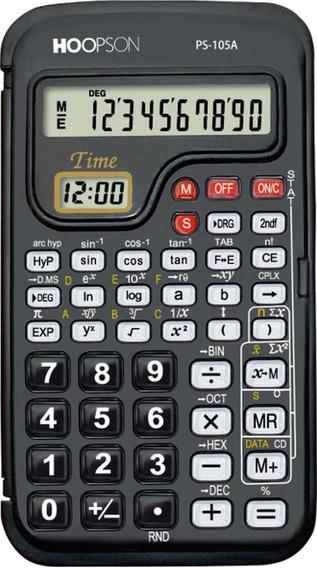 Calculadora Cientifica 56 Funcoes 10 Dig. Bateria Hoopson