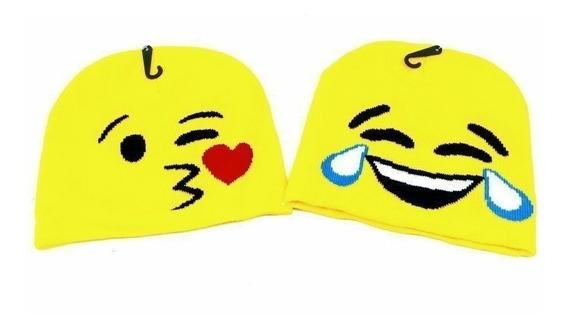 Gorro Lana Emoji Invierno Unisex Niños Niñas Varios Modelos