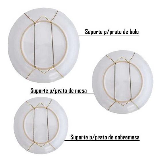 Combo 10 Suportes/ganchos Mola Pratos Decorativos Parede
