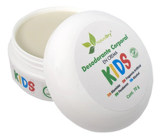 Naturaldry Desodorante 100% Natural Kids Exfolia 2pz