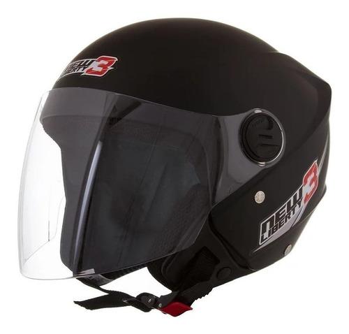 Capacete para moto  aberto Pro Tork  New Liberty Three  preto-fosco solid tamanho 58