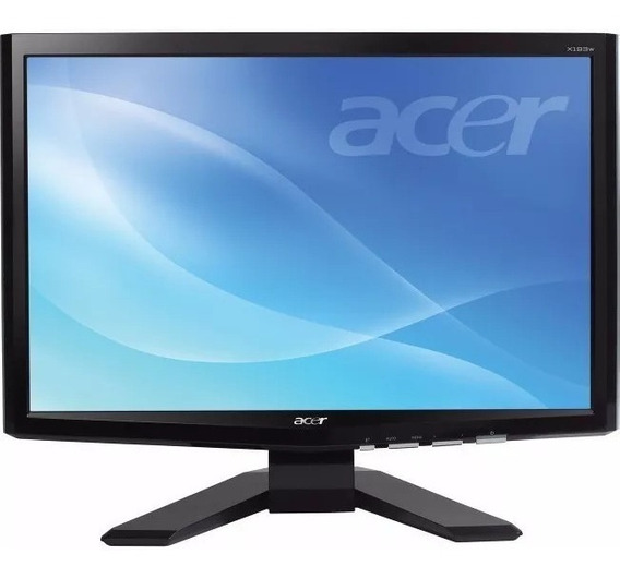 Monitor Lcd Acer X193w 19 Polegadas Vga Dvi - Todo Ok