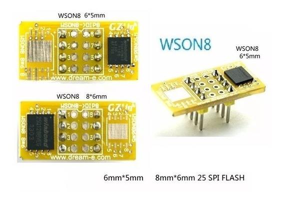 03 Adaptador Wson8 Dfn8 Mlf8 Sop8 Para Dip8 Tl866 Ch341a