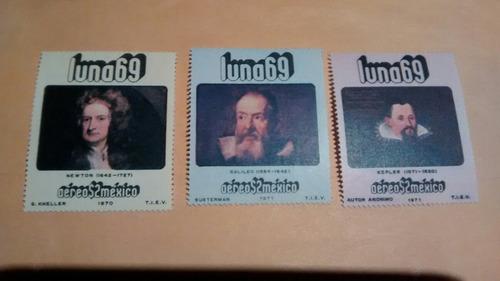 Imagen 1 de 1 de 3 Timbres Postales Mexico  Luna 69  Año 1970-1971   Nuevos