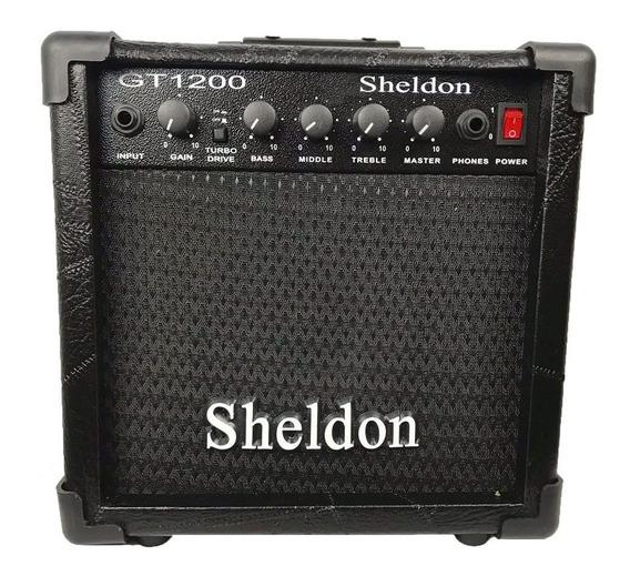 Amplificador Cubo Caixa Guitarra Sheldon Gt1200 15w C/ Drive