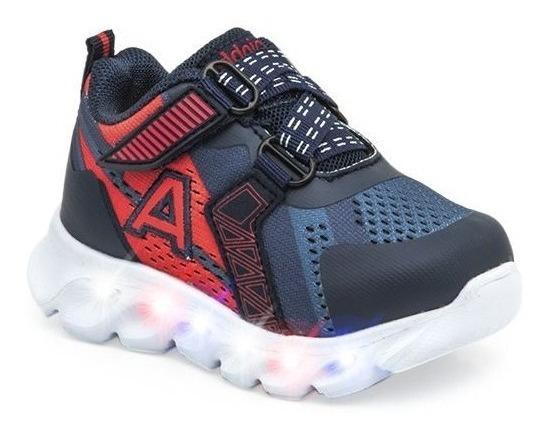 Zapatillas Addnice Wave Con Velcro Azu 21-24 De Bebes