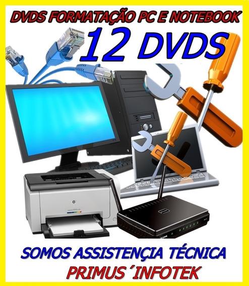 12dvds Formatação Informatica Bootavel Pc E Not 10,8.1,7