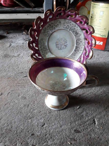 Antigua Taza Y Plato, Coleccionable. Royal Crown.