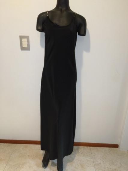 Vestido Negro Crepe De Seda - Norah Dubinn Excelente Estado