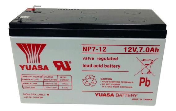 Bateria Np7-12 Yuasa Gel 12v 7ah Ups Alarmas Emporio