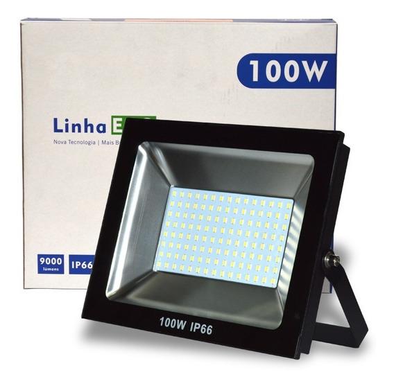 Refletor De Led 100w 6500k Biv Ip66 9000l Eco Up Led