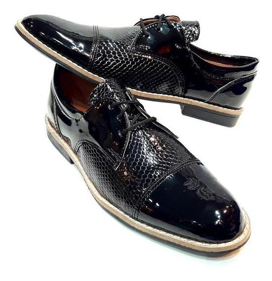 Zapatos De Vestir Fiesta Charol Negro Hombre! Fabricantes!