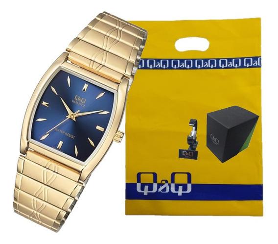 Relógio Q & Q Dourado Unissex Qa92012y