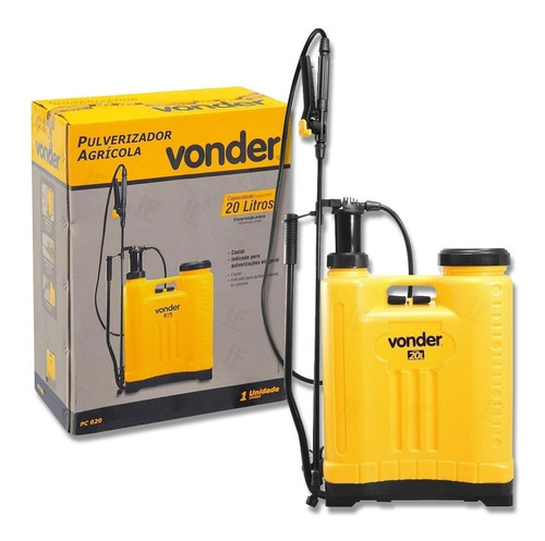 Pulverizador Costal Manual Agrícola Vonder Pc020 20 Litros