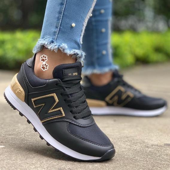 Zapatillas Adidas Negra Con Dorado Mujer Ropa y Accesorios
