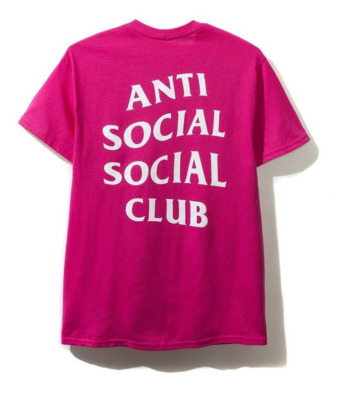 Playera Anti Social Social Club - Just For Fun Pink -