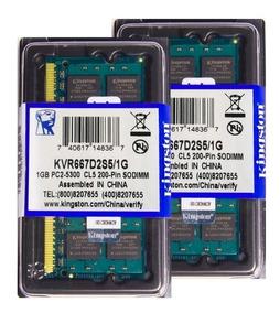 Memória Kingston Ddr2 1gb 667 Mhz Notebook 16 Chips 1.8v
