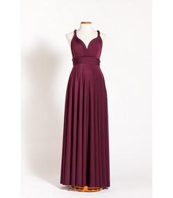 Vestido Convertible Color Vino O Burdeo