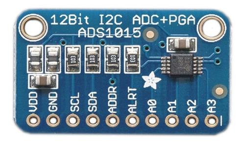 Ads1015 12-bit Adc - 4ch C Amplificador De Ganancia Adafruit