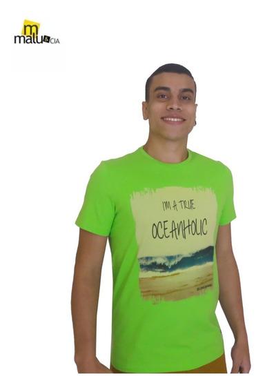 Camisa Camiseta Masculina Gola O Estampada - Promoção