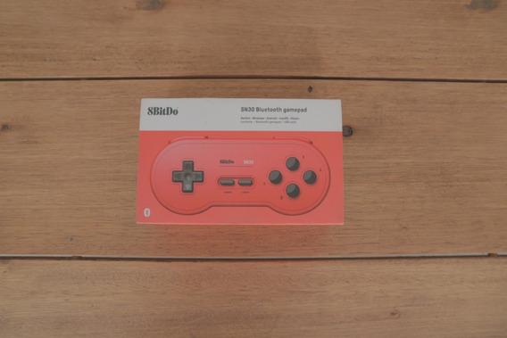 Controle 8bitdo Sn30 Bluetooth Nintendo Vermelho Emulador