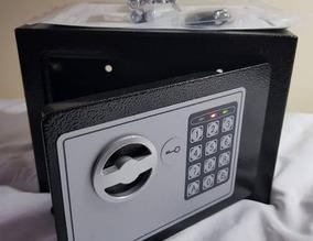 Cofre Eletrônico Com Teclado E Chave Guardar Dinheiro Arma E
