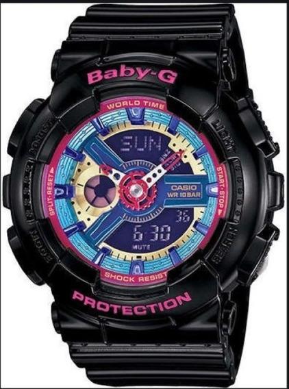 Relógio Casio Baby-g Quartz 100m Wr Shock Ba112-7acr
