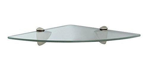 Kelvin Tools K36wht01-estante Esquinero De Vidrio, 30.5 X