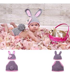 Lindo Conejo Bebé Ganchillo Disfraz Fotografía Prop Ropa