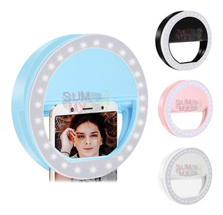 Aro Luz Led Recargable Selfie Ring Light Para Celular Declip