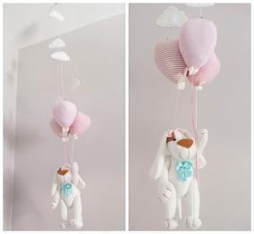 Móbile Bebê De Teto - Cachorrinha E Balões