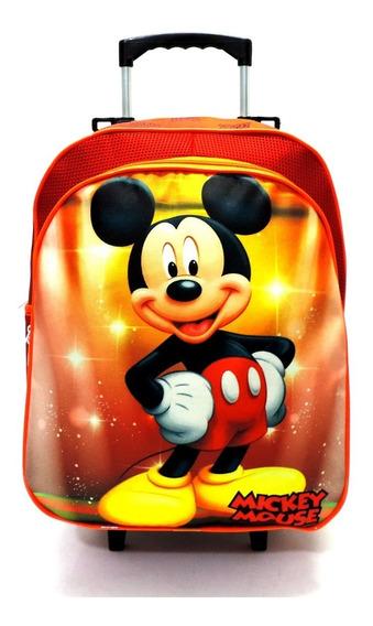 Mochila Escolar Infantil Mickey Mouse Rodinhas G F5