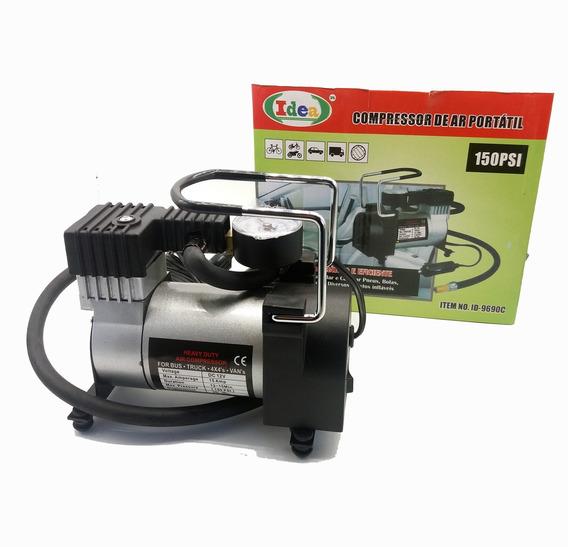 Compressor De Ar Automotivo Mini Portátil Profissional 12v .
