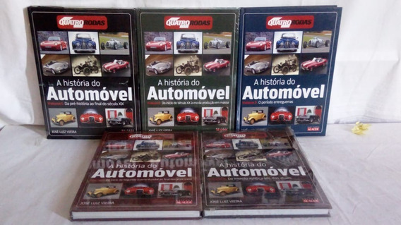 Coleção A História Do Automóvel - Quatro Rodas - 5 Volumes