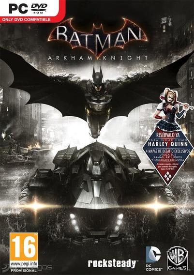 Batman Arkham Knight - Dublado (mídia Física) Pc - Dvd