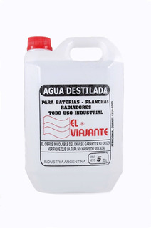 Agua Desmineralizada Destilada X 5 Ltrs Villa Del Parque
