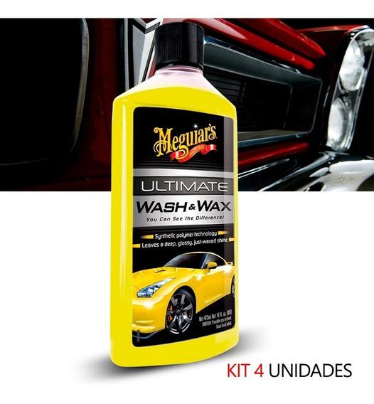 Kit 4 Shampoo Cera Ultimate Wash & Wax Auto Meguiars G177475
