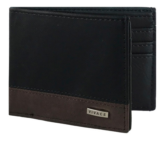 Billetera Hombre Tarjetero Pocket Cuero Pu Premium A324