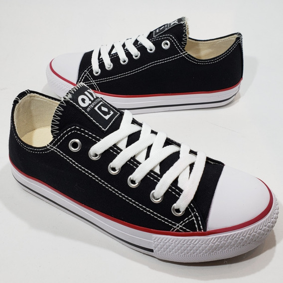 Tênis Qix All Skate Hills Low Star Preto Branco Varias Cores