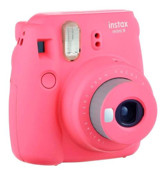 Câmera Instax Mini 9 Rosa Flamingo Nota Fiscal Garantia