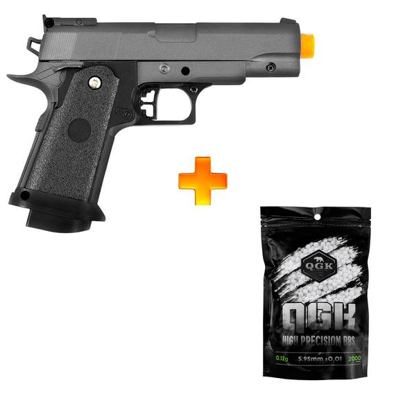 Pistola De Airsoft Spring G10 Full Metal 6mm - Galaxy + 2000 Bb 0.12g U Unica Unica