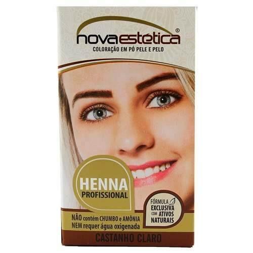 Kit Henna Para Sobrancelha Nova Estética Castanho Claro