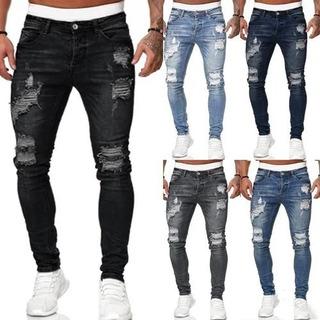 Jeans Blanco Roto Hombre Mercadolibre Cl