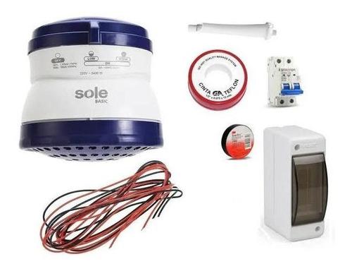Ducha Eléctrica Sole Basic,incluye Accesorios Y Materiales.