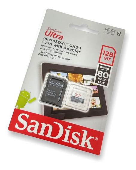 Cartão De Memoria 128gb Ultra Classe 10 80mbp/s Sandisk