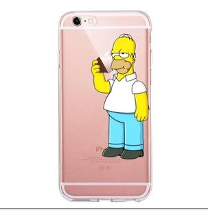 Capa Capinha Case Desenhada Homer Simpsons iPhone 6 6s Plus