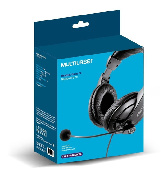 Headset Giant Notebook E Pc Multilaser Ph049